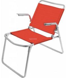 Кресло-шезлонг складное гранатовое К1