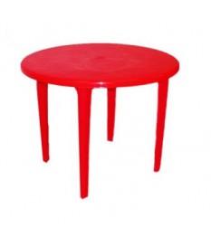 Стол круглый красный