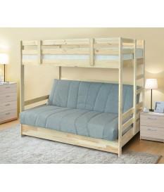 Кровать двухъярусная Массив (трансформер) с ящиками (Боровичи)