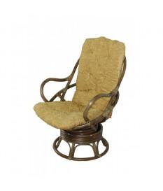 Кресло-качалка Swivel Rocker (Ротанг №6, ткань Mulan 054)