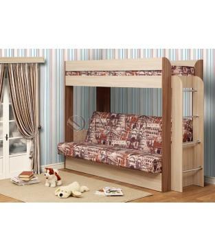 """Кровать-чердак с диван-кроватью """"Немо"""""""