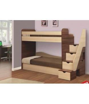 Кровать двухъярусная Адель-3(Матрасы в комплекте)