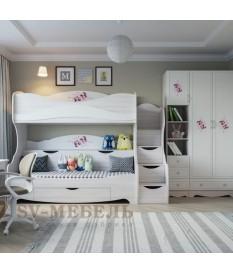 Кровать 2-х ярусная Акварель 1